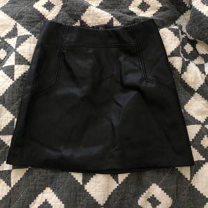 H&M Black leather skirt (fake leather)